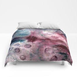 Blueberry Splash Watercolor Comforters