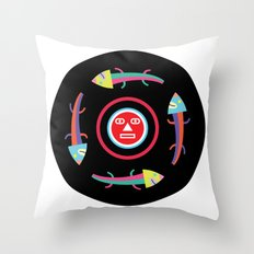 Circles of Gators Throw Pillow