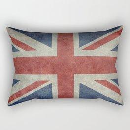 England's Union Jack flag of the United Kingdom - Vintage 1:2 scale version Rectangular Pillow