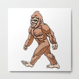 Sasquatch Bigfoot ape like creature forest free spirit Metal Print