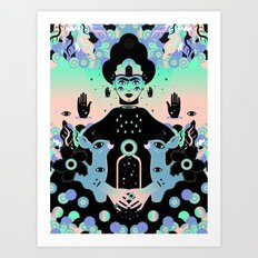 Las lunas de Frida Art Print
