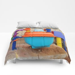 Exciting hotel plumbing, yippee! Comforters