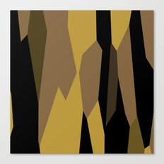 yellow tan olive and black Canvas Print