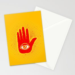 Hand and eye Stationery Cards