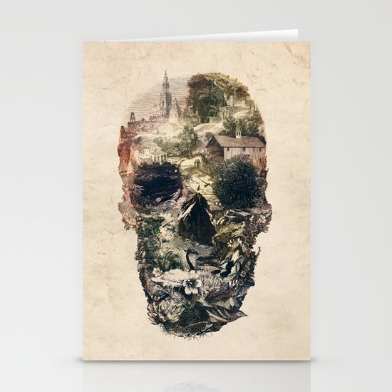 Skull Town Stationery Cards
