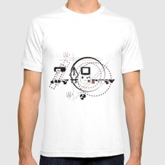 Pen Game White MEDIUM Mens Fitted Tee