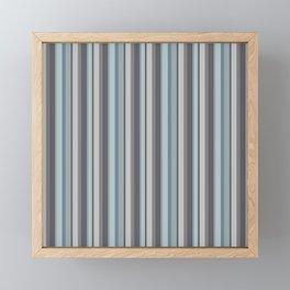 Adelaide Modern Parisienne Stripes in Mint - Framed Mini Art Print