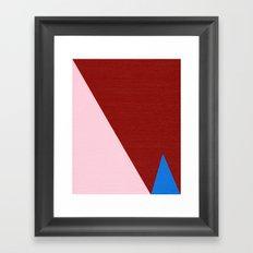 Blue Triangle Framed Art Print