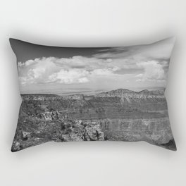 North_Rim Grand_Canyon, AZ - B&W I Rectangular Pillow