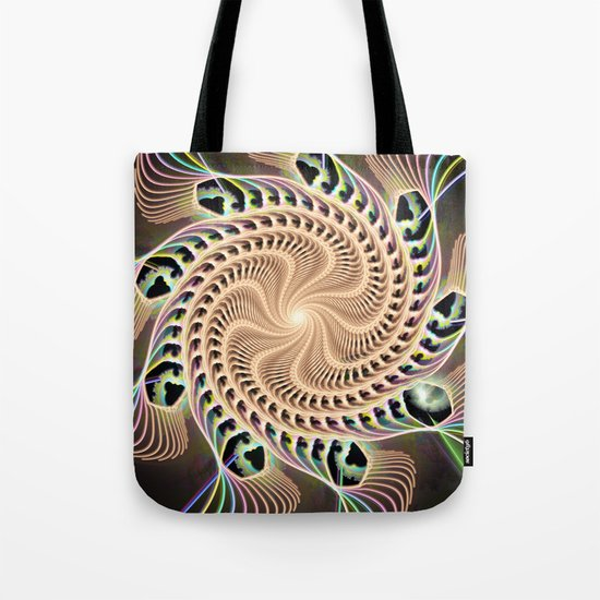 Groovy Vortex Abstract Tote Bag
