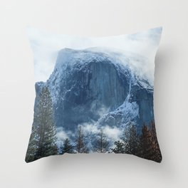 Ice-capped Half Dome at Sunrise   Yosemite National Park, California Throw Pillow