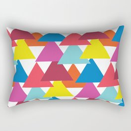 Mexican Streets Triangle Abstract Rectangular Pillow