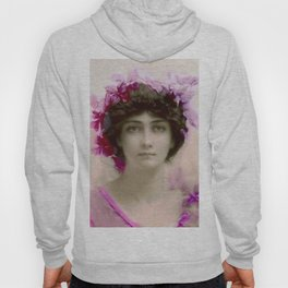 Beautiful,young lady,Belle epoque,victorian era, vintage, angelic girl, beautiful,floral,gentle,peac Hoody