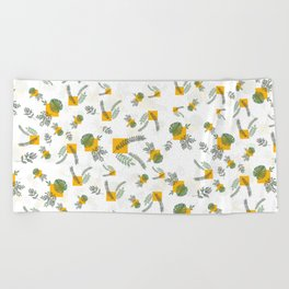 Wall Garden Beach Towel