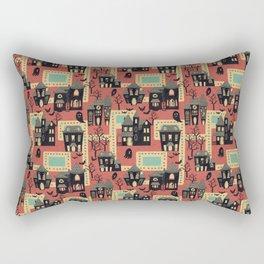 Pacmanville Horror Rectangular Pillow