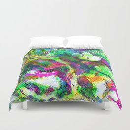 The Screaming Psychedelic Duvet Cover