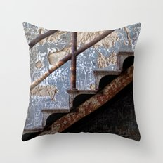 Graffiti Stairs Throw Pillow