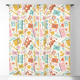 Stationery Love Blackout Curtain