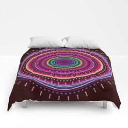 Colorful patterns and textured mandala Comforters