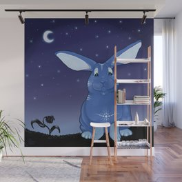Bunny Blues Wall Mural