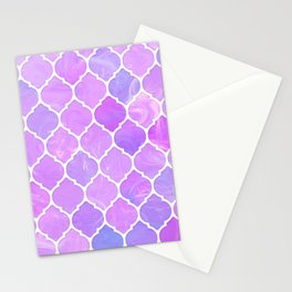 Pink and purple glass Moroccan print Stationery Cards