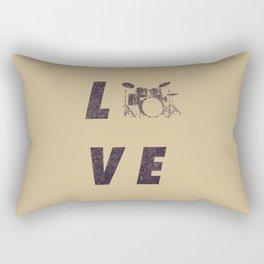 Love Drummer Rectangular Pillow
