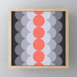 Gradual Living Coral Framed Mini Art Print