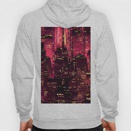 Red neon city Hoody