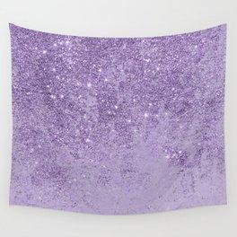 Modern elegant lavender lilac glitter marble Wall Tapestry