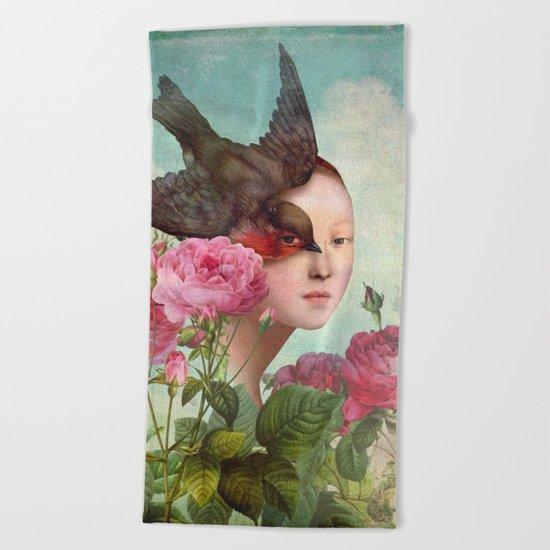 The Silent Garden Beach Towel
