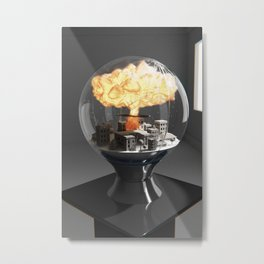 Woeglobe Metal Print