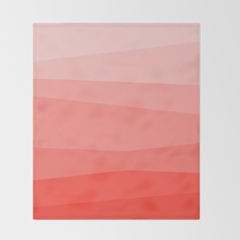 Diagonal Living Coral Gradient Throw Blanket