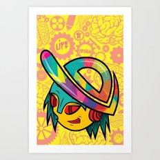 The Dopest Robot Logo Art Print