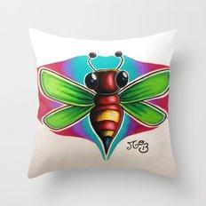 Bee Bumble Throw Pillow