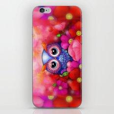 Owl in Poppy Field iPhone & iPod Skin