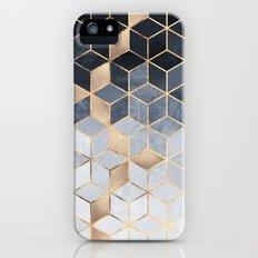 Soft Blue Gradient Cubes iPhone (5, 5s) Slim Case