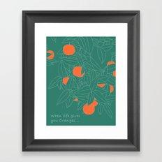 When life gives you oranges... Framed Art Print