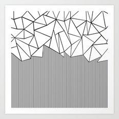 Ab Lines White Art Print