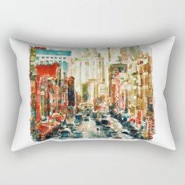 Winter in Chinatown - New York Rectangular Pillow