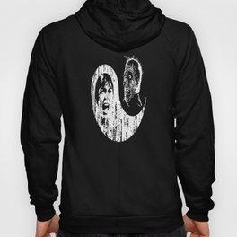 Yin Yang Horror - white print Hoody
