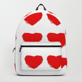 Red heart pattern grungy Backpack