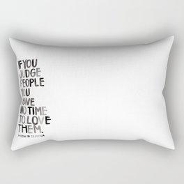 Judge Not Rectangular Pillow