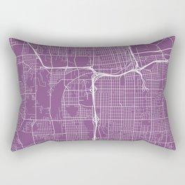 Tacoma Map, USA - Purple Rectangular Pillow