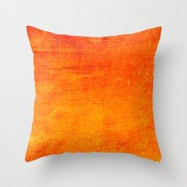 Orange Sunset Textured Acrylic Painting Deko-Kissen