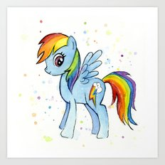 Rainbow Dash MLP Pony Art Print