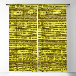 Crime scene / 3D render of endless crime scene tape Blackout Curtain
