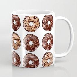 Chocolate Donuts Pattern Coffee Mug