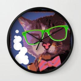 Mr. ManCat Wall Clock