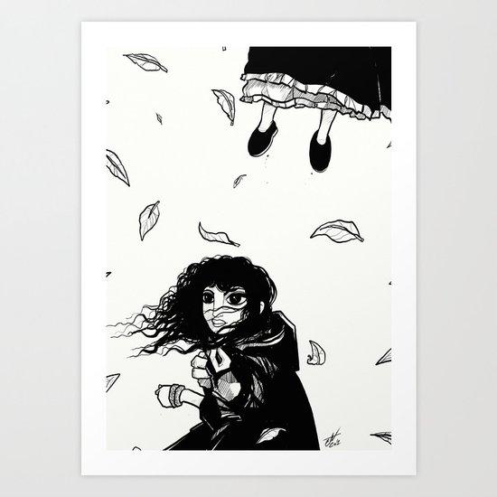 Breezy Sketch Art Print
