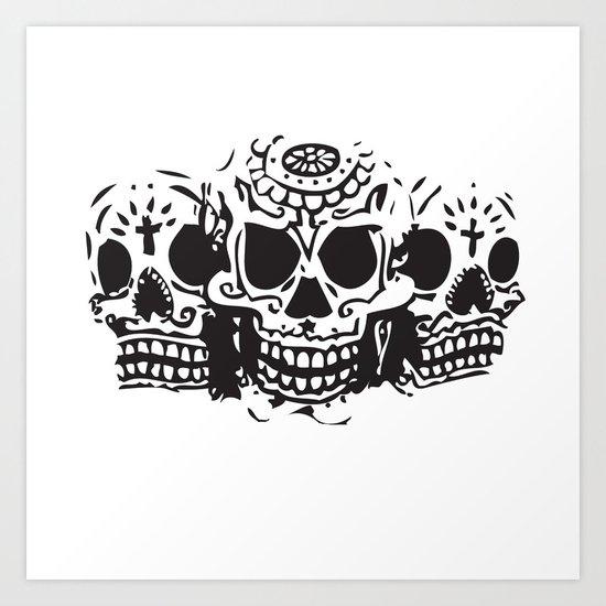 Skull heads Art Print